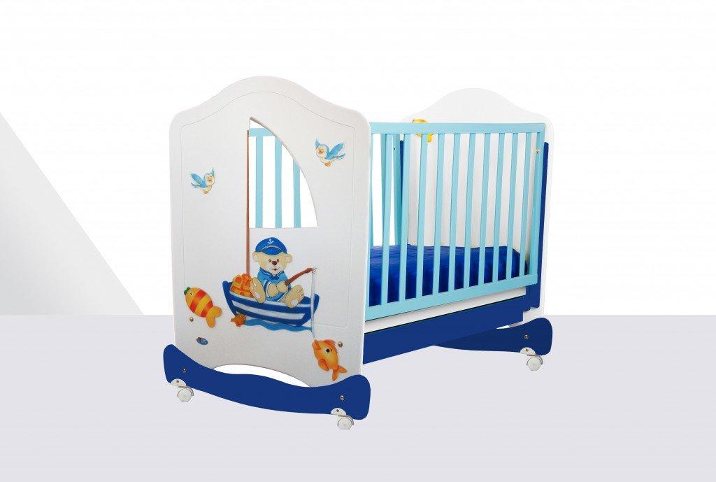 Culla azzurra il colore adatto per una notte senza incubi for Culla azzurra