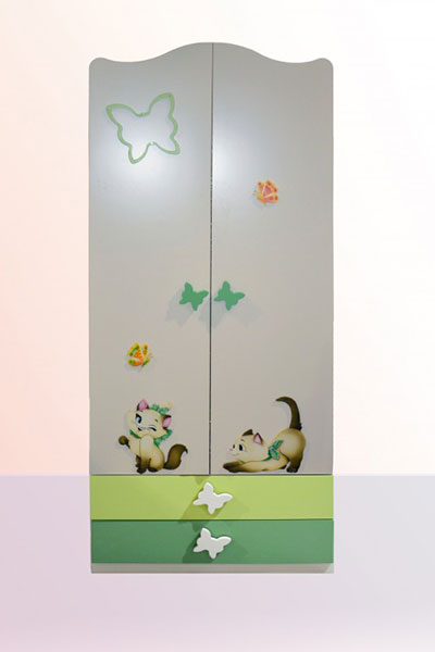 armadio 2 ante amore verde